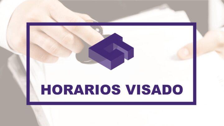 Nuevos horarios de visado